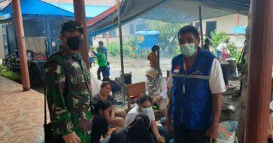 Aksi Satgas Tanggap Darurat Bencana Erupsi Gunung Ile Lewotolok